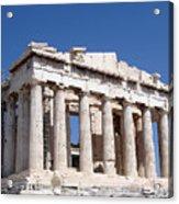 Parthenon Front Facade Acrylic Print by Jane Rix