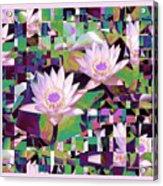 Patchwork Quilt Acrylic Print by Karen Lewis