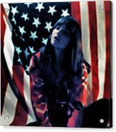 Patriotic Thoughts Acrylic Print by David Patterson