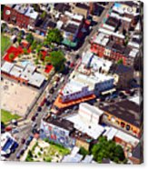 Pats King Of Steaks And Genos Steaks South Philadelphia 4542 Acrylic Print by Duncan Pearson