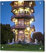 Patterson Park Pagoda. Baltimore Maryland  Acrylic Print by Matthew Saindon