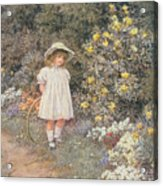 Pause For Reflection Acrylic Print by Helen Allingham