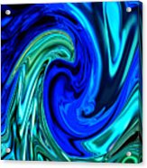 Peacocks Blue Abstract  Acrylic Print by Michelle  BarlondSmith