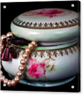 Pearls And Beads Acrylic Print by June Marie Sobrito