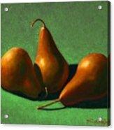 Pears Acrylic Print by Frank Wilson