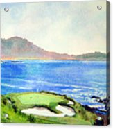 Pebble Beach Gc 7th Hole Acrylic Print by Scott Mulholland