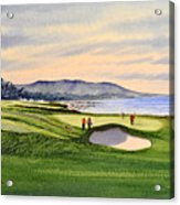 Pebble Beach Golf Course Acrylic Print by Bill Holkham