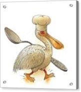 Pelican Acrylic Print by Kestutis Kasparavicius