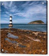 Penmon Lighthouse Acrylic Print by Adrian Evans