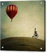 Penny Farthing For Your Thoughts Acrylic Print by Irene Suchocki