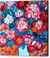 Peonies Bouquet Acrylic Print by Ana Maria Edulescu
