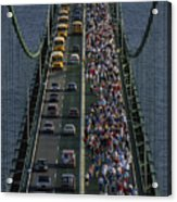 People Participating In The Annual Acrylic Print by Phil Schermeister