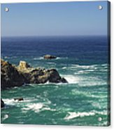 Perfect Mix Of Blue And Green Acrylic Print by Donna Blackhall