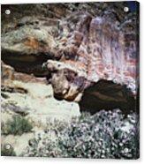 Petra, Transjordan: Cave Acrylic Print by Granger