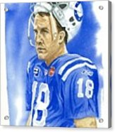 Peyton Manning - Heart Of The Champion Acrylic Print by George  Brooks