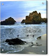 Pfeiffer Beach Evening - Big Sur Acrylic Print by Charlene Mitchell
