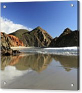 Pfeiffer Beach Reflection Acrylic Print by Pierre Leclerc Photography