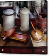 Pharmacist - Equipment For Making Pills  Acrylic Print by Mike Savad