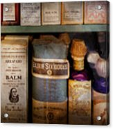 Pharmacy - Oils And Balms Acrylic Print by Mike Savad