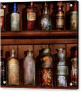 Pharmacy - Caution Don't Mix Together Acrylic Print by Mike Savad