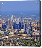 Philadelphia Aerial  Acrylic Print by Duncan Pearson