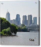 Philadelphia Along The Schuylkill River Acrylic Print by Bill Cannon