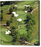 Philadelphia Cricket Club Militia Hill Golf Course 5th Hole Acrylic Print by Duncan Pearson