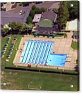 Philadelphia Cricket Club St Martins Pool 415 West Willow Grove Avenue Philadelphia Pa 19118 4195 Acrylic Print by Duncan Pearson