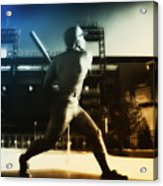 Philadelphia Phillie Mike Schmidt Acrylic Print by Bill Cannon