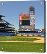 Philadelphia Phillies Stadium  Acrylic Print by Brynn Ditsche