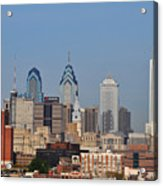 Philadelphia Standing Tall Acrylic Print by Simon Wolter