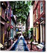 Philadelphia's Elfreth's Alley Acrylic Print by Bill Cannon