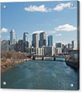 Philly Winter Acrylic Print by Jennifer Ancker