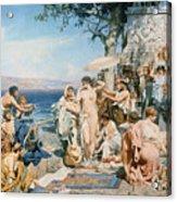 Phryne At The Festival Of Poseidon In Eleusin Acrylic Print by Henryk Siemieradzki