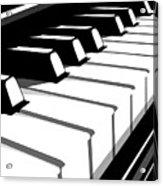 Piano Keyboard No2 Acrylic Print by Michael Tompsett