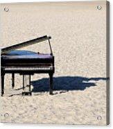 Piano On Beach Acrylic Print by Hans Joachim Breuer