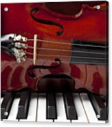 Piano Reflections Acrylic Print by Garry Gay
