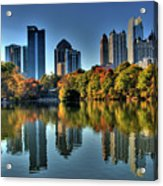 Piedmont Park Atlanta City View Acrylic Print by Corky Willis Atlanta Photography