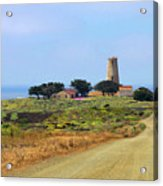 Piedras Blancas Historic Light Station - Outstanding Natural Area Central California Acrylic Print by Christine Till