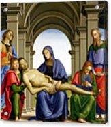 Pieta Acrylic Print by Pietro Perugino