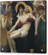 Pieta Acrylic Print by William Adolphe Bouguereau
