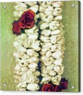 Pikake Lei Acrylic Print by Jade Moon