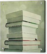 Piled Reading Matter Acrylic Print by Priska Wettstein