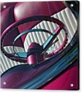 Pink 55 Acrylic Print by Rebecca Cozart