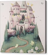 Pink Castle Acrylic Print by Suzn Smith