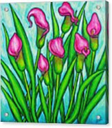 Pink Ladies Acrylic Print by Lisa  Lorenz