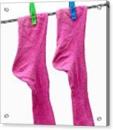 Pink Socks Acrylic Print by Frank Tschakert