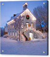 Pioneer Church At Christmas Time Acrylic Print by Utah Images