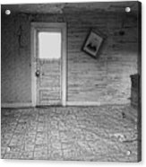 Pioneer Home Interior - Nevada City Ghost Town Montana Acrylic Print by Daniel Hagerman