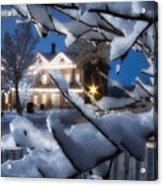Pioneer Inn At Christmas Time Acrylic Print by Utah Images